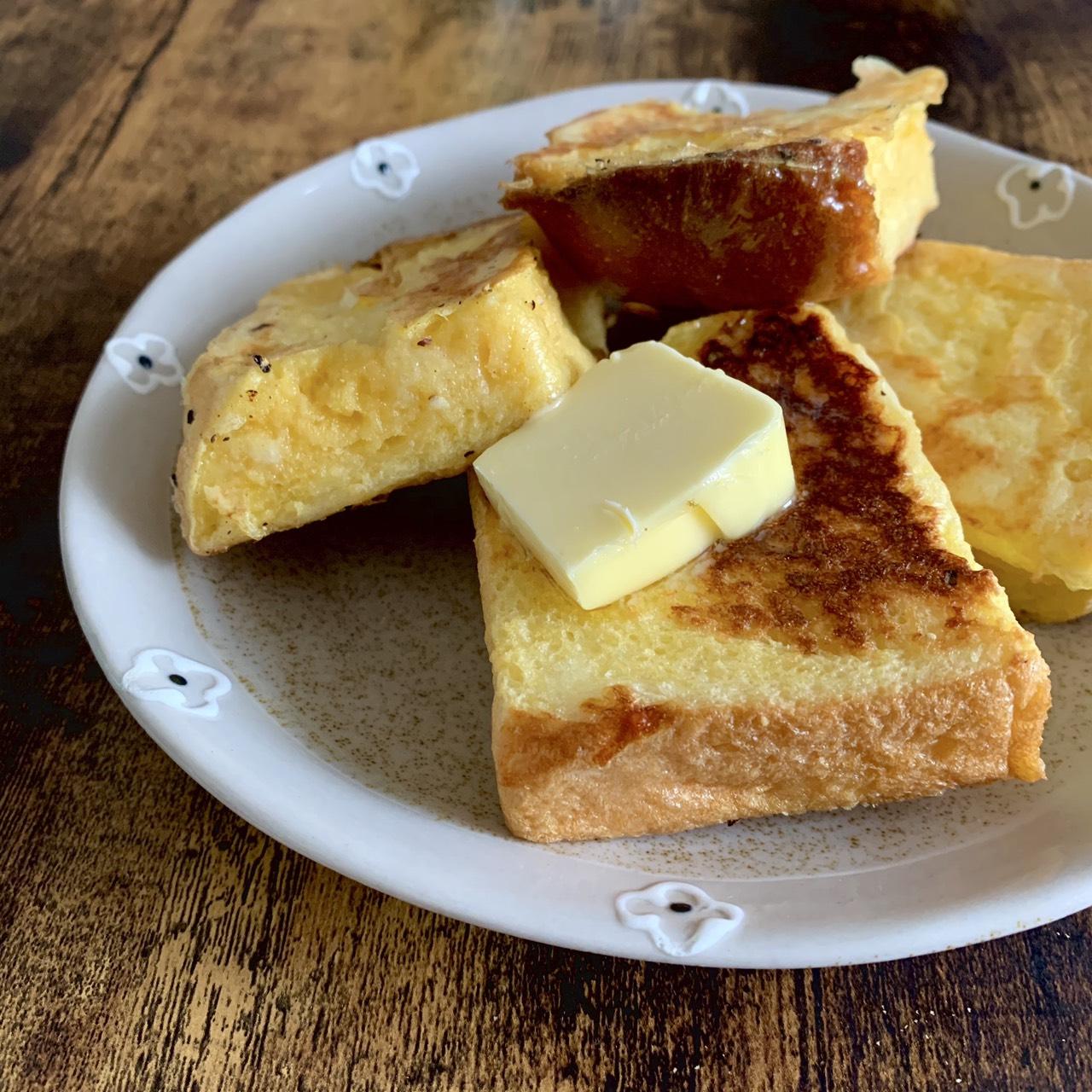 ホテル食パンを使用!! 簡単フレンチートースト
